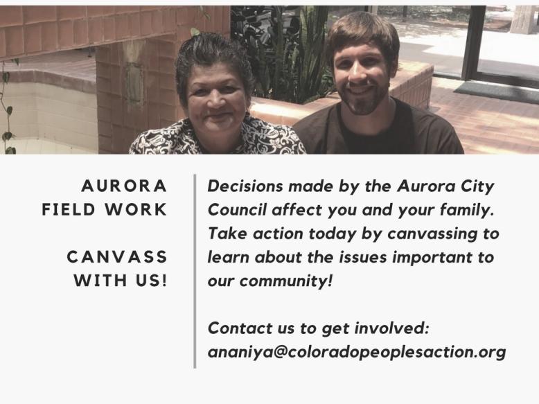 Aurora Field Work- Canvass with us!