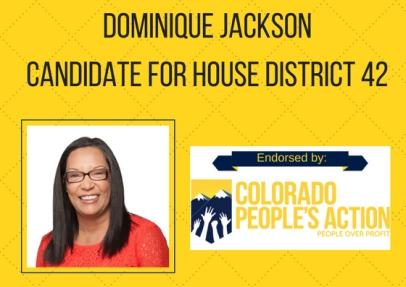 Dominique Jackson. CPA House District 42 endorsement 2018 election