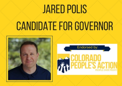 Jared Polis Candidate for Governor